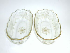 Two Glas Bowls With Deep Cut Josephine Glassworks about 1880