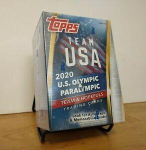 2021 Topps Team USA U.S. Olympic & Paralympic Team & Hopefuls Retail Blaster Box