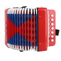 Giocattolo ritmico strumento musicale educativo per bambini a 7 corde rosse a 2