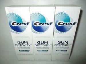Crest Gum Detoxify Toothpaste 3 Pack - 4.1 oz ea tube