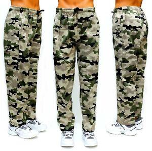 Herren Jogginghose Camouflage Freizeithose Army Style Stretchbund Tunnelband