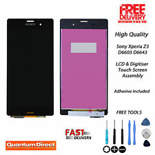NEW Sony Xperia Z3 D6603 D6643 Touch Screen Digitiser & LCD Replacement - BLACK