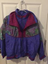 Vintage Lavon 1980s Large Shiny Bomber Nylon Windbreaker Coat Jacket Streetwear