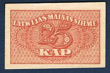 BILLET de BANQUE - LETTONIE - 25 KAP Pick n° 11 de 1920 en SUP dimension 55x35mm