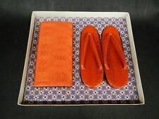 Japanese Women's KIMONO ZORI & BAG SET HAKATA Pattern US size 6.5(23.5cm)