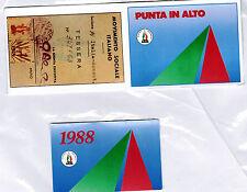 Tessera con portatessera originale 1988 Movimento Sociale MSI M.S.I