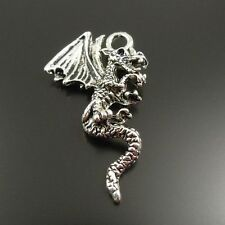 50pcs Antiqued Silver Vintage Alloy Animal Dragon Fly  Pendant Charms 32149