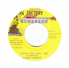 """BARRY BROWN - EVERY EYE THAT SEE -Record Factory -WICKED REGGAE DIGI 7"""" hear"""