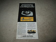 Audio-Technica AT20ss,AT15ss Cartridge Ad, 1977,Article