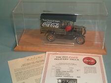 1925 COCA-COLA FORD MODEL T DELIVERY TRUCK DANBURY MINT DIECAST 1:24 & DISPLAY