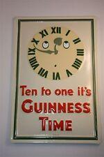 """3D Panneau métallique Bière Guinness 20x30 cm """"GUINNESS TEMPS 10 TO ONE"""" Irlande"""