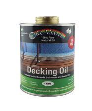 Organoil Timber Decking Oil  RED UV 1 litre - 100% Natural DENTED CAN
