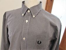 MEN'S FRED PERRY GINGHAM CHECK TWO TONE SHIRT CASUALS MOD SCOOTER SKIN LARGE L