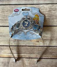 Disney Store Princess Cinderella Jewel Crown Tiara New Silver Blue Headband