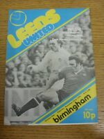 22/11/1975 Leeds United v Birmingham City  (rusty staples). Footy Progs (aka bob