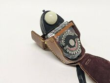 NORWOOD Director Colormatic Exposure Meter Model D Genuine Leather Case Working