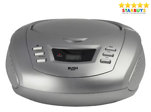 Bush Portable CD Player & FM Radio Stereo Boombox - Silver - With Warranty