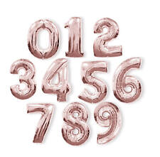 "Rose Gold Helium Jumbo Giant 34"" Birthday Number Foil Balloon 0123456789"