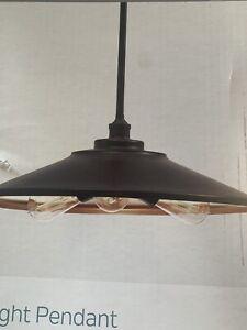 NEW Kichler Covington 17.99-in Olde Bronze Farmhouse Single Cone Pendant