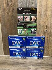Lot of (5) DVC Mini DVM60 SP 60 LP 90 Panasonic x4 FujiFilm x1 Cassettes NEW