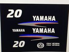 Yamaha Outboard Motor Decal Kit 20 hp 4 Stroke Kit - Marine Vinyl