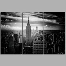No Frame Black Friday  3 Panels Empire State building Wall  Art  Canvas Prints