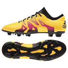Adidas x 15.1 FG/ag sintética botas de fútbol oro/negro/rosa [s74594]