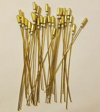 "Lot of 25 Gold Brass Metal Jewelry Craft Beading Head Pins 4"" Inch Findings VTG"