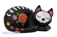 More details for new mystic sleepy kitty black cat figurine statue  with free post