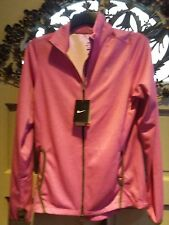 Nike Womens knit running jacket pinki retail $85.00