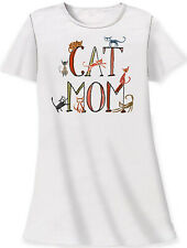 Cat Mom Sleep Shirt by Relevant One Size fits Most Women 100% Cotton