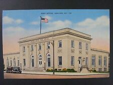 Ashland Kentucky Post Office Building Vintage Curt Teich Linen Postcard 1945