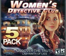 GREED 1&2 + ENTWINED 1&2 Hidden Object 5 PACK WOMEN'S DETECTIVE CLUB PC Game NEW