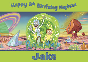 Rick and Morty personalised A5 birthday card grandson nephew brother name age