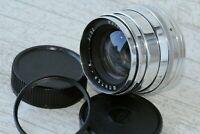 Jupiter-8 Gloss 2/50mm Silver (Sonnar copy) Leica LTM Screw M39 /Adapter ringM42