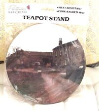 Farmhouse Decorative Heat Resistant Cork Backed GIFT Tea Pot Stand