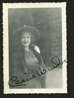 Claire Windsor (d1972) signed autograph 3x4.5 Snapshot Photo Silent Film Actress