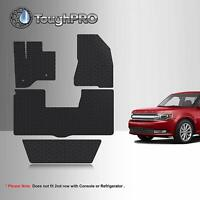 ToughPRO Floor Mats + 3rd Row Black For Ford Flex 2nd Row Bench 2013-2019