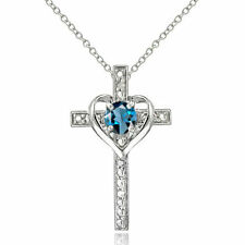 Diamond Blue Natural Fine Necklaces & Pendants
