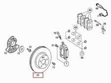 OEM GENUINE MERCEDES BENZ NEW FRONT BRAKE ROTORS 00-05 S NO 4MATIC TO A372602