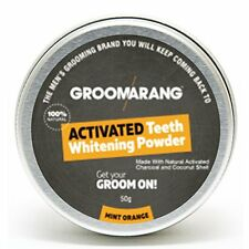 Groomarang Natural Organic Activated Charcoal Tooth Teeth Whitening Powder Mint