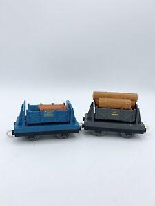 Thomas Train & Friends Trackmaster Sodor Lumber Tipper Trucks Cargo Car W/ Logs