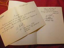 LE REVE D'UNE VIE Christian Robert Envoi à Marcel Pagnol ! + lettre manuscrite
