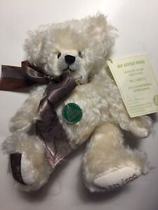 "HERMANN Teddy Bear 9"" Germany White Mohair Bear ""My Little Teddy Bear"" 221/500"