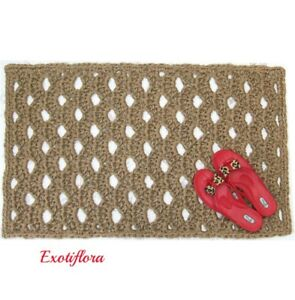 Jute Hall Rug - Hallway Runner - Natural Fiber - Made in USA - Crochet by Hand