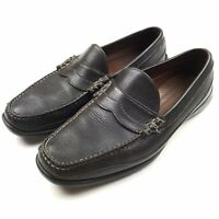 Allen Edmonds Men's Hamlin Brown Pebbled Leather Slip On Penny Loafer Shoe Sz 13