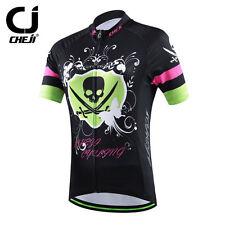 2019 CHEJI Women s Cycling Clothing Bike Cycling Jersey MTB Shirt Black  Skull ce1a3ec27