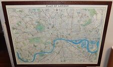 PLAN OF LONDON LARGE COLOR LITHOGRAPH MAP