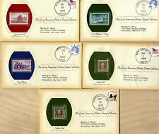 The Great Americans Historic Stamp Collection  5 Covers Issued 1978