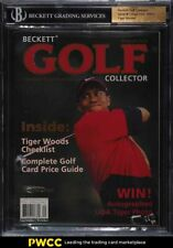 2001 Beckett Golf Collector Issue #1 Tiger Woods BGS Auth